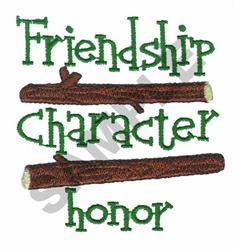 FRIENDSHIP CHARACTER HONOR embroidery design
