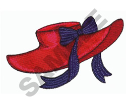 HAT W/BOW embroidery design