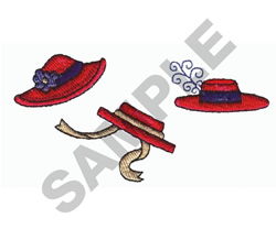 LADIES HATS embroidery design
