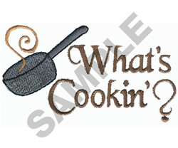 WHATS COOKIN? embroidery design