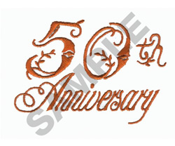 50TH ANNIVERSARY embroidery design