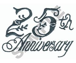 25TH ANNIVERSARY embroidery design