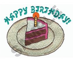 HAPPY BIRTHDAY CAKE embroidery design