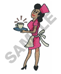 DINER WAITRESS embroidery design