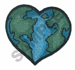 HEART GLOBE embroidery design