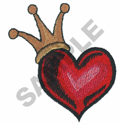 CROWNED HEART embroidery design