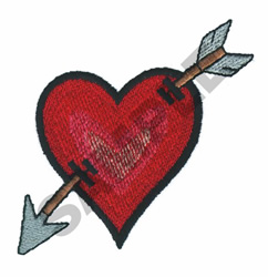 CUPIDS HEART embroidery design