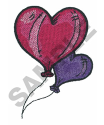 HEART SHAPED BALLOONS embroidery design