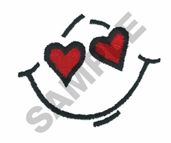 HEART SMILEY embroidery design
