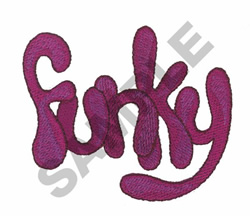 FUNKY embroidery design