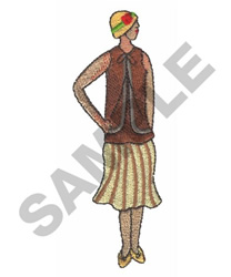 FLAPPER LADY embroidery design
