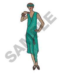 FLAPPER GIRL embroidery design