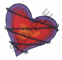 BARBED WIRE HEART embroidery design