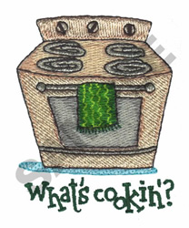 WHATS COOKIN? (STOVE) embroidery design