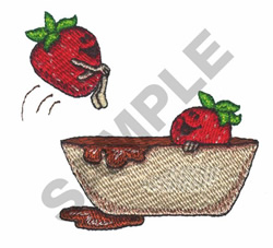 DIPPED STRAWBERRIES embroidery design