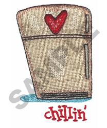 CHILLIN (FRIDGE) embroidery design