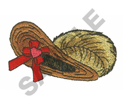 FEATHERED BONNET embroidery design
