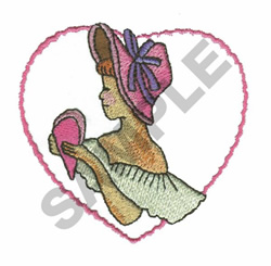 WOMAN WITH HEART embroidery design