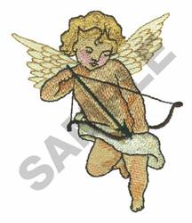 CUPID TAKING AIM embroidery design