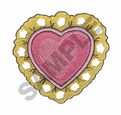 LACE HEART embroidery design