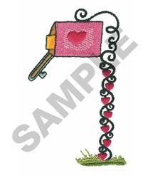 VALENTINE MAILBOX embroidery design