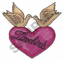 LOVEBIRDS embroidery design