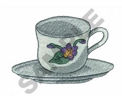 TEA CUP embroidery design