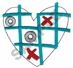 TIC TAC TOE HEART embroidery design