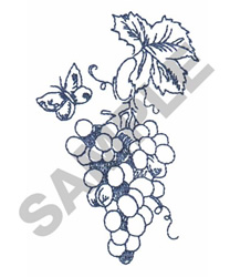 VINYARD BUTTERFLY embroidery design