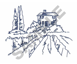 TUSCAN VINEYARD embroidery design