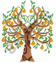 PEAR TREE embroidery design