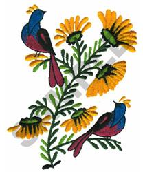BIRDS & SUNFLOWERS embroidery design