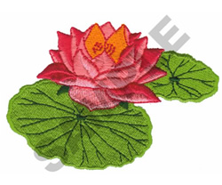 LILY PADS embroidery design