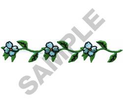 WHITE FLORAL BORDER embroidery design