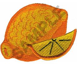 LEMON embroidery design