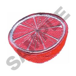 GRAPEFRUIT HALF embroidery design
