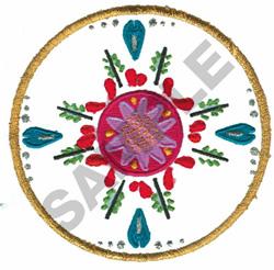 FLORAL MONOGRAM embroidery design