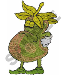 PEAR MAN embroidery design