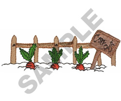 CARROTS IN THE GARDEN embroidery design