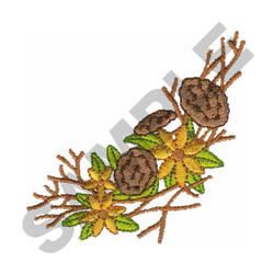 DRIED FLOWERS embroidery design