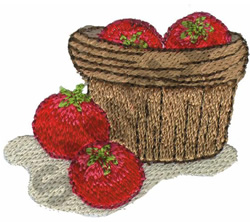 BASKET OF TOMATOES embroidery design