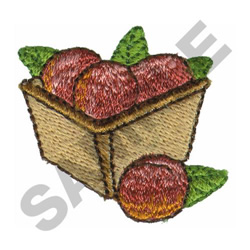 BASKET OF PEACHES embroidery design
