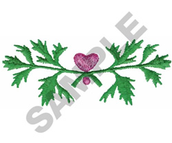 LEAVES AND HEART BORDER embroidery design