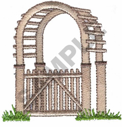 GATED ARBOR embroidery design