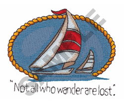 TWO SAILBOATS embroidery design