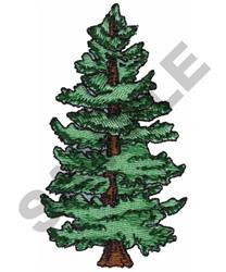 Pine Tree embroidery design