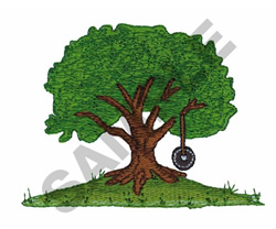 Tree With Swing embroidery design