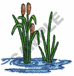 Cattails embroidery design