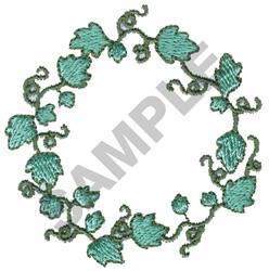 Vine Wreath embroidery design