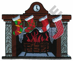 HOLIDAY FIREPLACE embroidery design